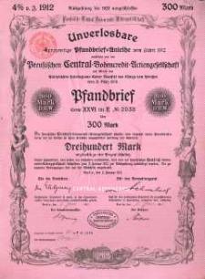 Berlin. Talon pieniężny 1912 r.