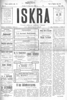 Iskra. Dziennik polityczny, społeczny i literacki 1922, nr 8