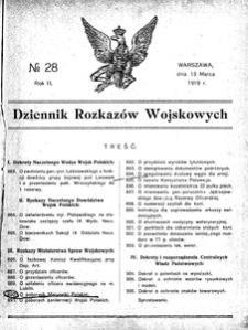 Dziennik Rozkazów Wojskowych, 1919, R. 2, nr 28