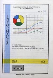 Informacja o sytuacji społeczno-gospodarczej w województwie częstochowskim, maj 1995