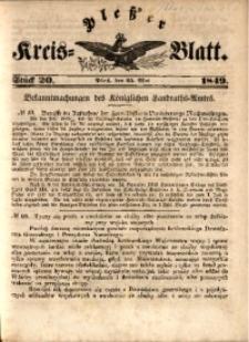 Pleßer Kreis-Blatt, 1849, St.20
