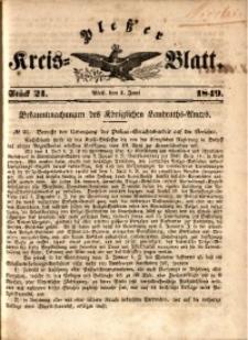 Pleßer Kreis-Blatt, 1849, St.21