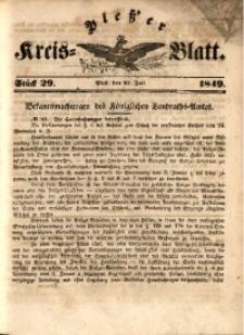 Pleßer Kreis-Blatt, 1849, St.29