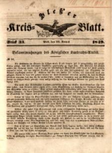 Pleßer Kreis-Blatt, 1849, St.33