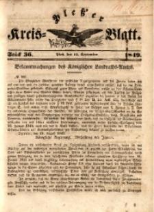 Pleßer Kreis-Blatt, 1849, St.36