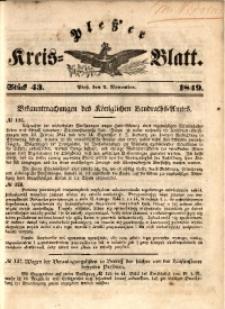 Pleßer Kreis-Blatt, 1849, St.43