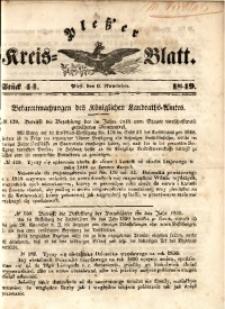 Pleßer Kreis-Blatt, 1849, St.44