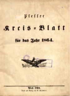 Plesser Kreis-Blatt, 1864, St.1