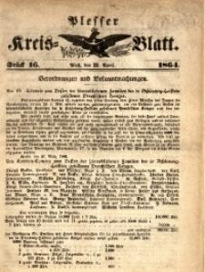 Plesser Kreis-Blatt, 1864, St. 16