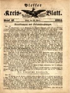 Plesser Kreis-Blatt, 1864, St. 17
