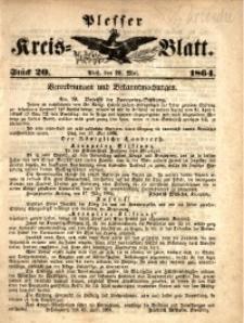 Plesser Kreis-Blatt, 1864, St. 20