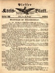 Plesser Kreis-Blatt, 1864, St.33