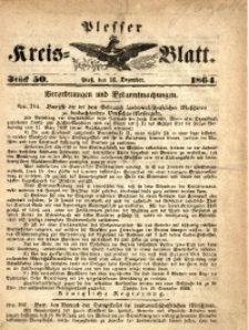 Plesser Kreis-Blatt, 1864, St.50
