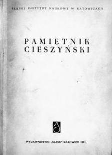 Pamiętnik Cieszyński, 1961, T. 1