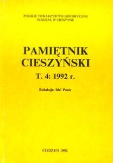 Pamiętnik Cieszyński, 1992, T. 4