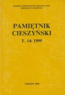 Pamiętnik Cieszyński, 1999, T. 14