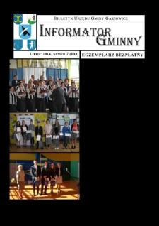 Informator Gminny - Gaszowice, 2014, nr7 (103)