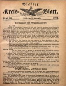 Plesser Kreis-Blatt, 1873, St. 39