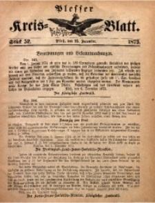 Plesser Kreis-Blatt, 1873, St. 52