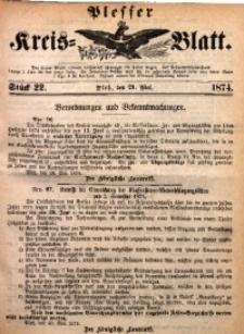Plesser Kreis-Blatt, 1874, St. 22