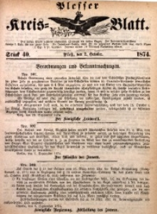 Plesser Kreis-Blatt, 1874, St. 40