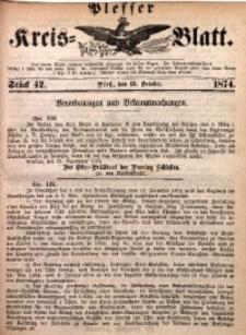 Plesser Kreis-Blatt, 1874, St. 42