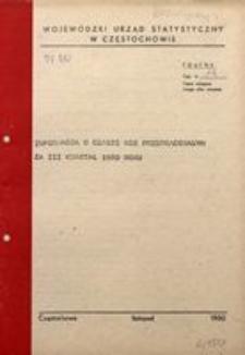 Informacja o czasie nie przepracowanym za III kwartał 1980 roku