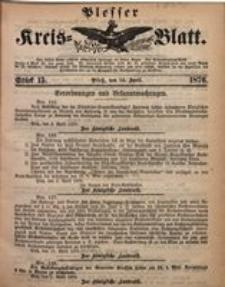 Plesser Kreis-Blatt, 1876, St. 15