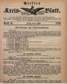 Plesser Kreis-Blatt, 1876, St. 18