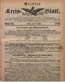 Plesser Kreis-Blatt, 1876, St. 21
