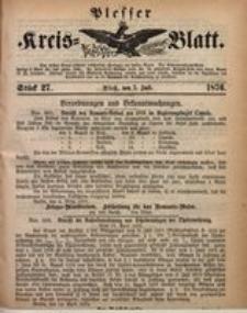 Plesser Kreis-Blatt, 1876, St. 27