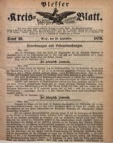 Plesser Kreis-Blatt, 1876, St. 39