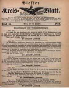 Plesser Kreis-Blatt, 1876, St. 41