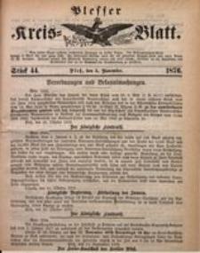 Plesser Kreis-Blatt, 1876, St. 44