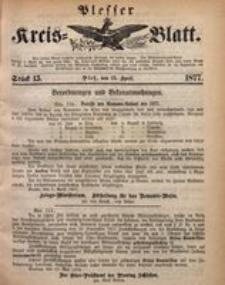 Plesser Kreis-Blatt, 1877, St. 15