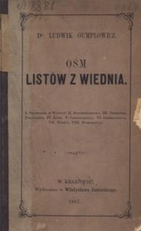 Ośm listów z Wiednia