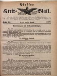 Plesser Kreis-Blatt, 1877, St. 34
