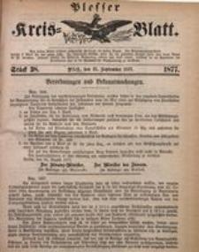 Plesser Kreis-Blatt, 1877, St. 38