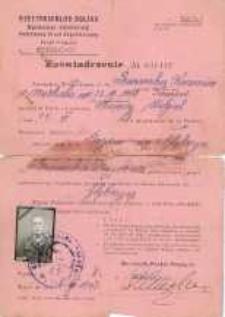 Zaświadczenie o przybyciu do Polski. 1947 r.