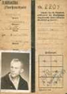 Legitymacja potwierdzająca przybycie do Polski, 1947 r.