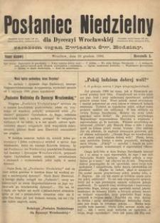 Posłaniec Niedzielny, 1895, R. 1, Nr okazowy