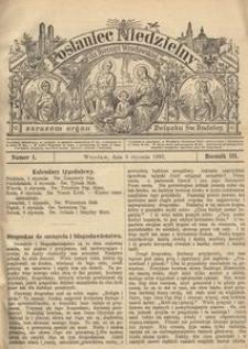 Posłaniec Niedzielny, 1897, R. 3, Nr 1