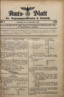 Amts-Blatt des Regierungspräsidenten in Kattowitz, 1939, St. 2