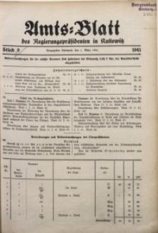 Amts-Blatt des Regierungspräsidenten in Kattowitz, 1941, St. 9