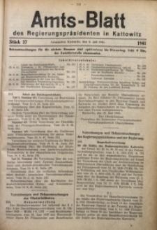 Amts-Blatt des Regierungspräsidenten in Kattowitz, 1941, St. 27