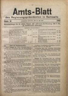 Amts-Blatt des Regierungspräsidenten in Kattowitz, 1941, St. 30