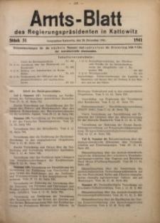 Amts-Blatt des Regierungspräsidenten in Kattowitz, 1941, St. 51