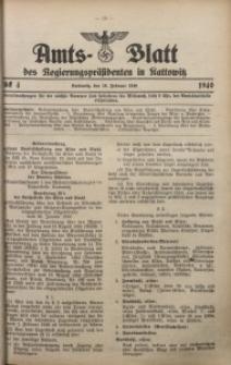 Amts-Blatt des Regierungspräsidenten in Kattowitz, 1940, St. 4