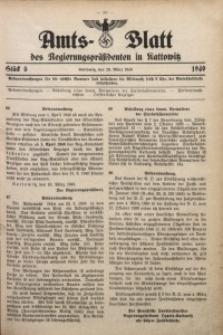 Amts-Blatt des Regierungspräsidenten in Kattowitz, 1940, St. 8