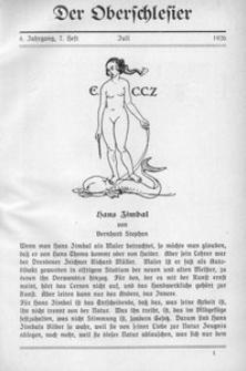 Der Oberschlesier, 1926, Jg. 8, Heft 7